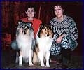Sveta, Oxana Cheb and her collies: Irin's Silver Snow-Winter and Solarland Garnet