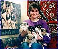 Sveta and puppies from Floria Golden Dess - 1997