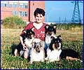 Sveta, Elliot and puppies B - 1995